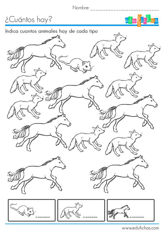 Descarga esta cartilla cuantos hay con dibujos de animales para ...