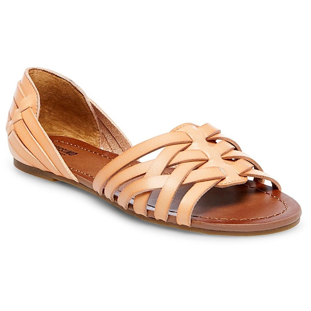 70b0508c88fa Women s Gena Wide Width Strappy Flat Huarache Sandals Mossimo Supply Co. -  Natural 8.5W