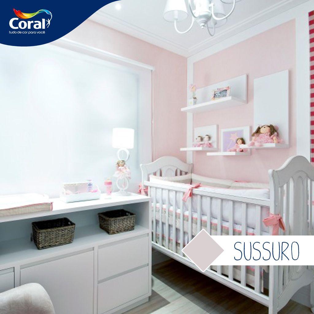 quarto de bebe rosa claro 6 Quarto de bebê Pinterest
