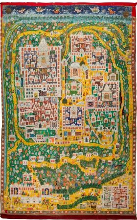 A collection of 72 ancient indian maps of pilgrimage routes and a collection of 72 ancient indian maps of pilgrimage routes and temples chronicles the art of map making and its relevance in the contemporary world of gumiabroncs Gallery