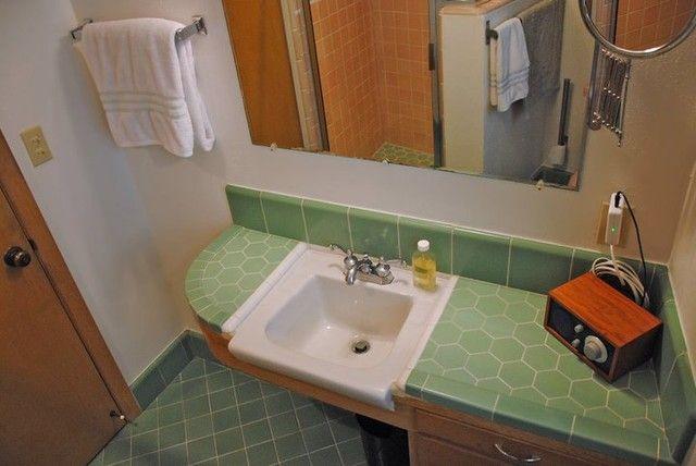 1954 birkemeier home - master bath modern bathroom