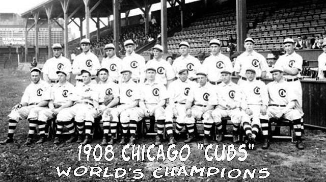 a18f07b5 1908 Cubs...the last world series for the cubs | Chicago Cubs ...