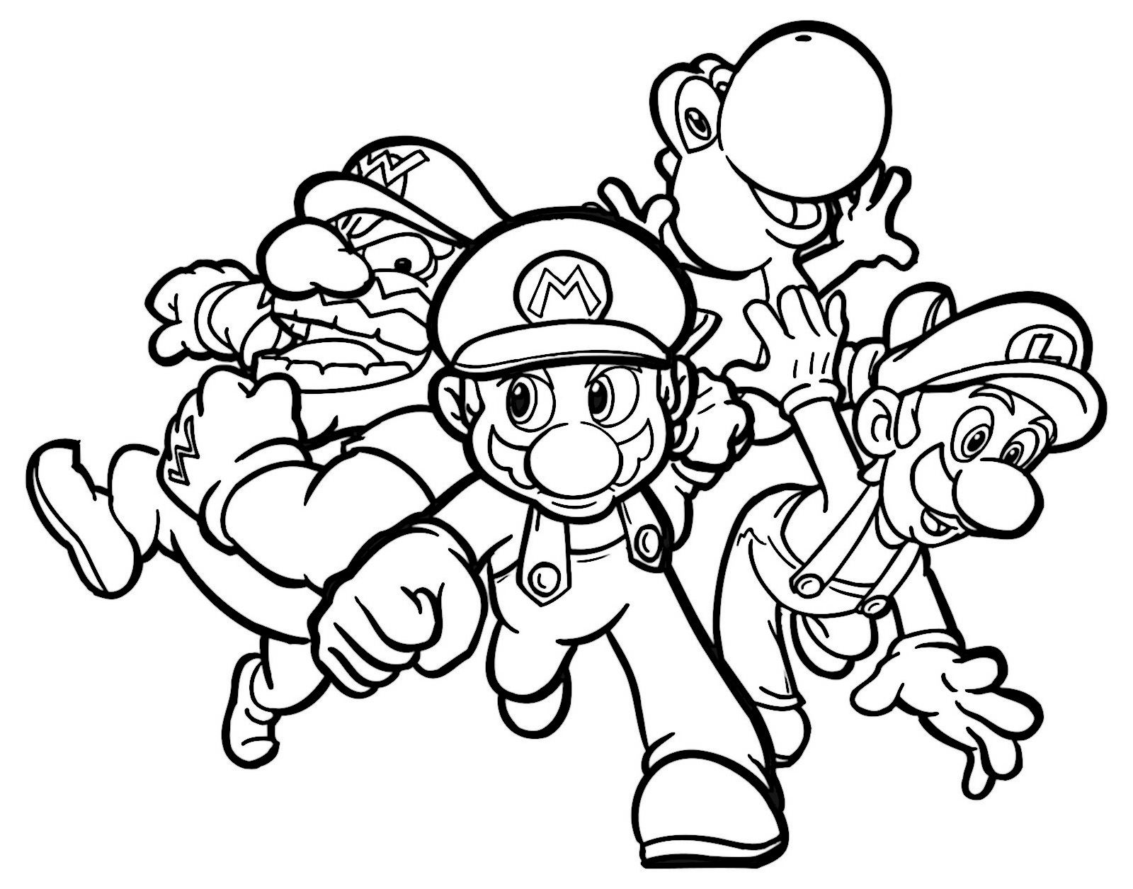 Mario Bross Coloring Pages 2 Coloring pages for kids Pinterest