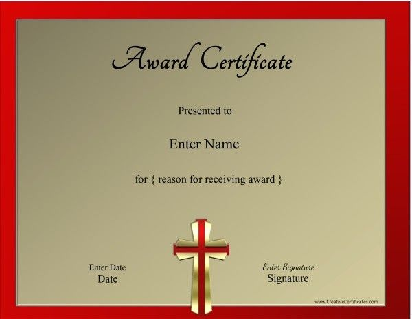 Christian Certificate Template Senior Missionary Circle