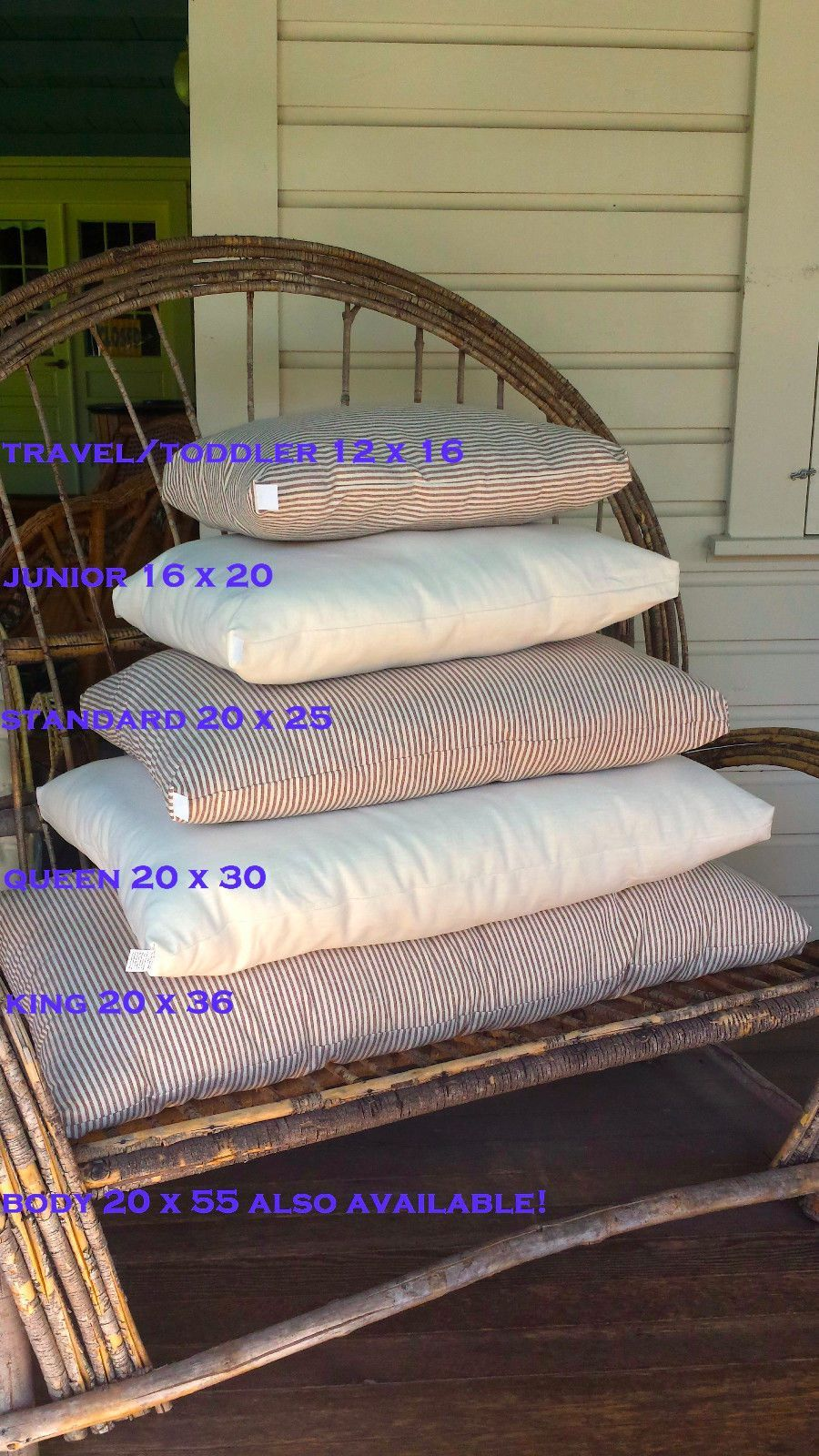 Eco Wool Fill Bed Pillow Chemical Free Made In Usa Natural