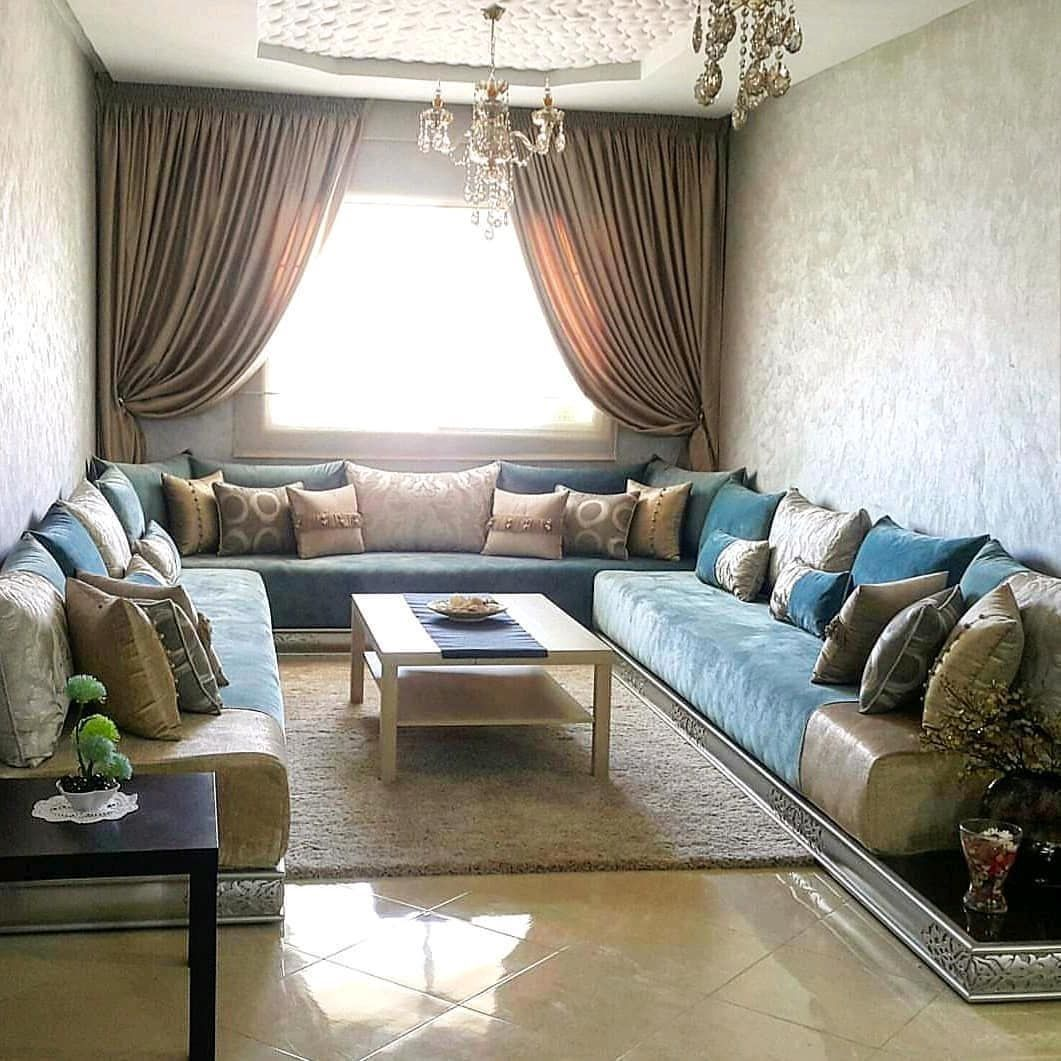 صالون مغربي Decor Home Living Room Living Room Sofa Design Moroccan Living Room