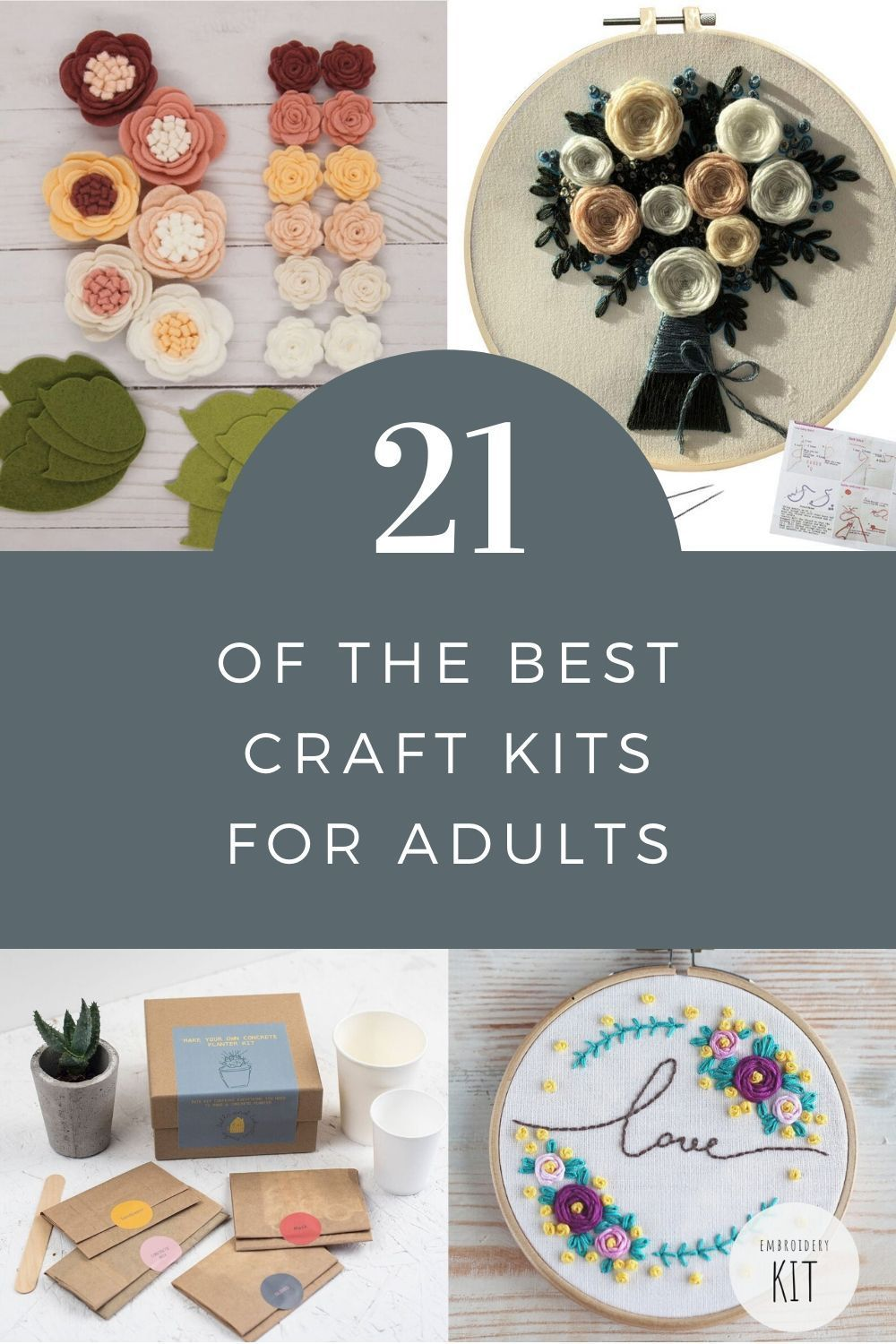My Favorite At Home Craft Kits For Adults With Supplies For Paper Crafting Sewing Home Decor Jewel In 2020 Craft Kits Craft Activities For Kids Diy Kits For Adults