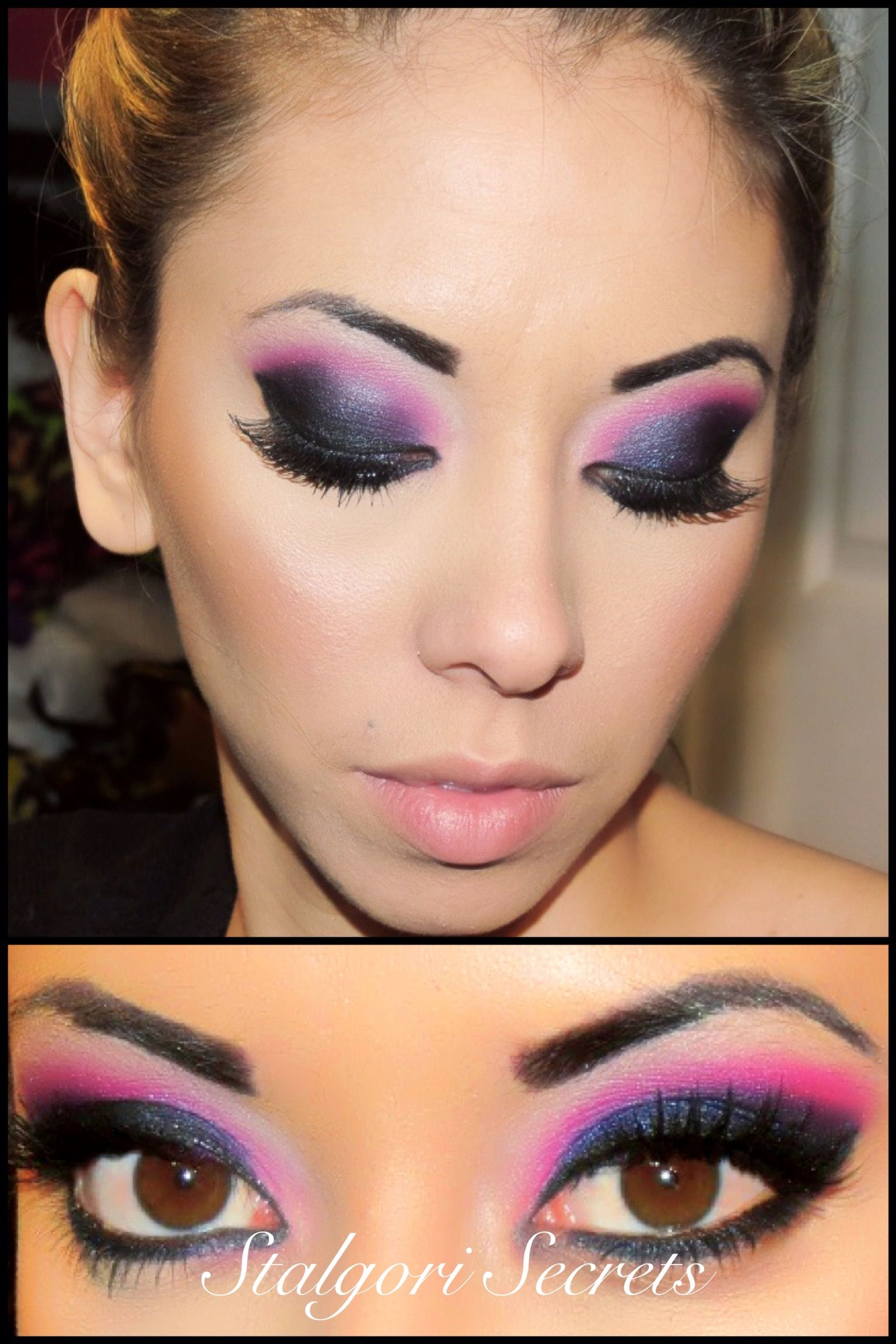 Pink Gogo Makeup Youtube Tutorial @kmbmakeup If I'm Ever A
