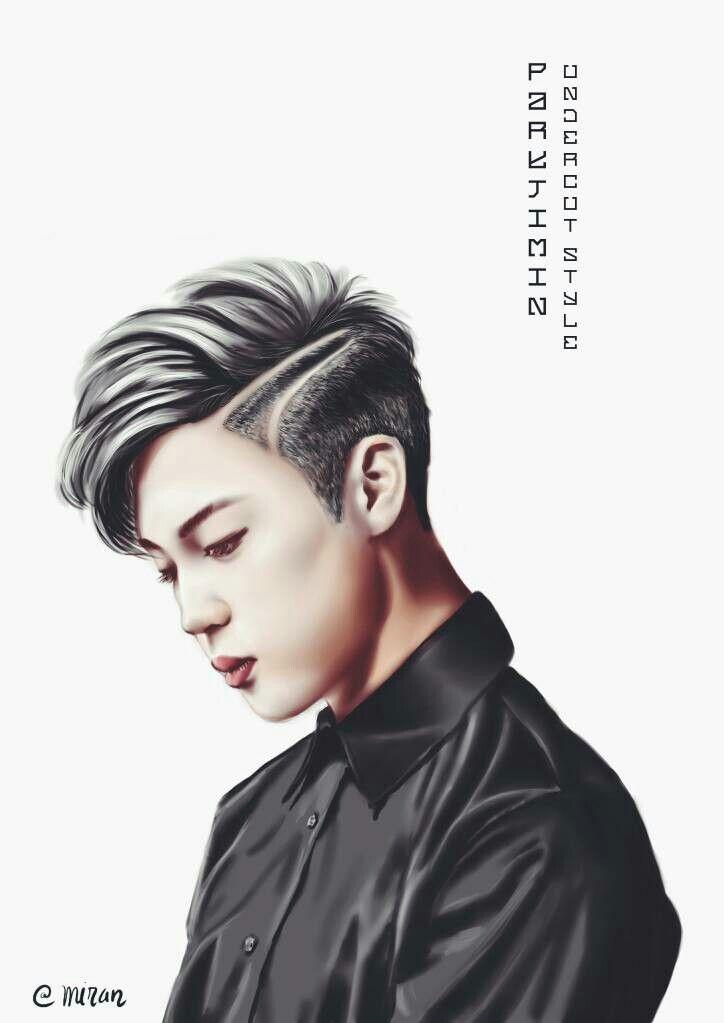 Jimin , Undercut hair style JIMIN 방탄소년단지민 지민 btsfanart