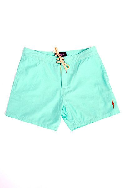 Lightning Bolt - Plain Crane Boardshort - Ice Green
