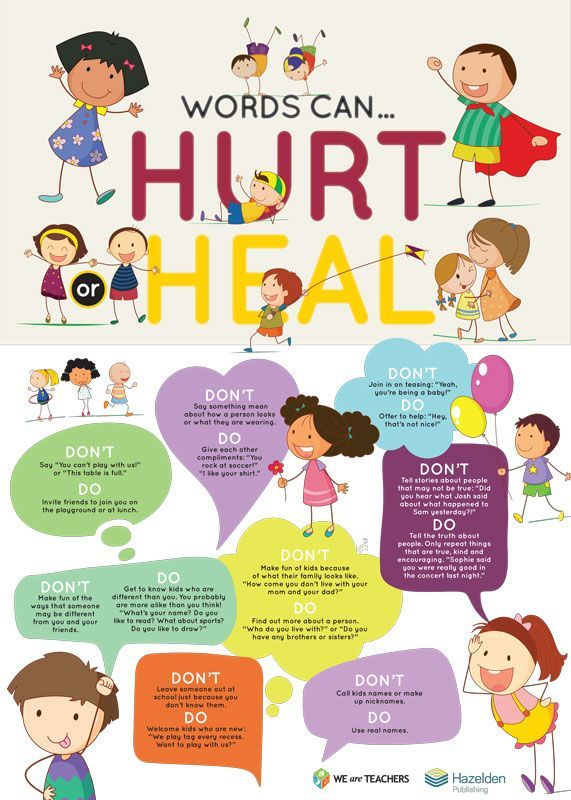 Free Classroom Poster Words Can Hurt Or Heal Teaching Kids