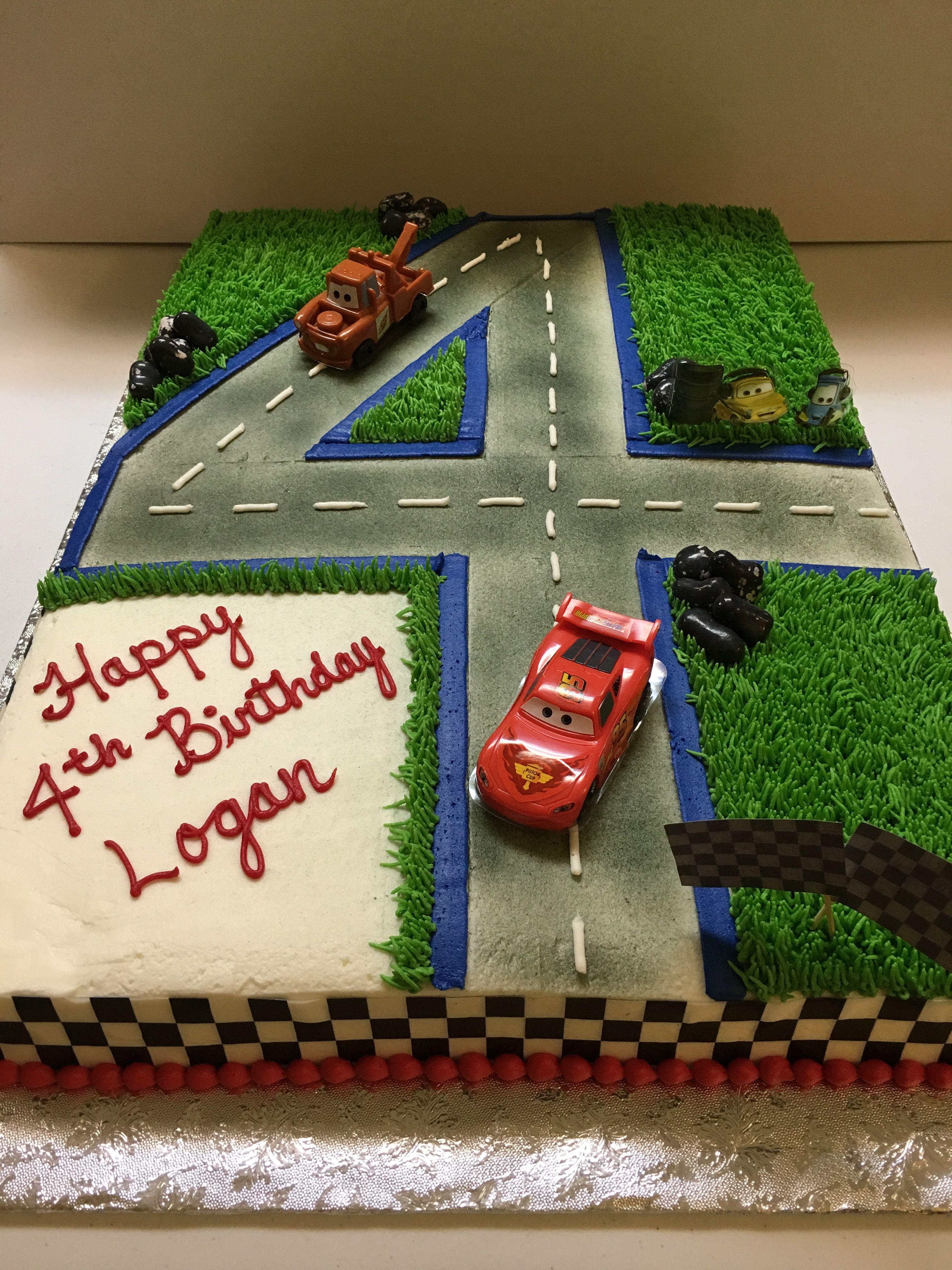 Cars Themed Full Sheet Cake Blechkuchen Kindergeburtstag 4 Geburtstagskuchen Kindergeburtstag