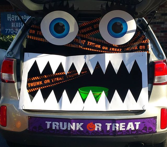 My mommy won Trunk Or Treat at my school #ParentsParticipation - halloween trunk or treat ideas