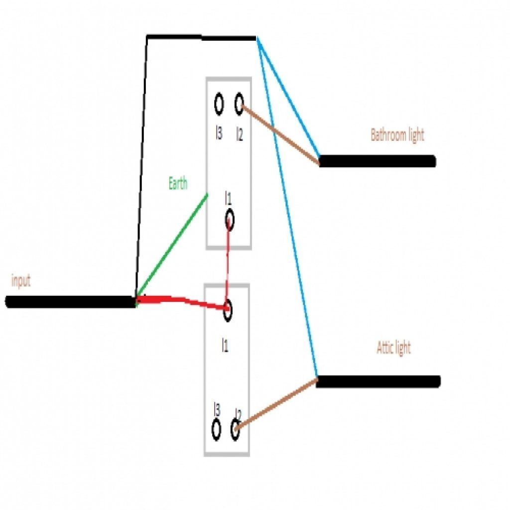 2 Gang Light Switch Wiring Diagram Schematic Diagrams Pole On A Double