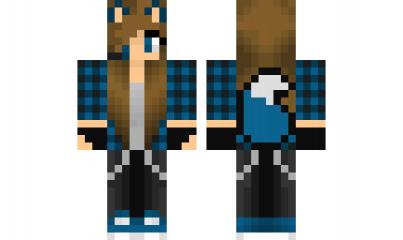 Minecraft Skin Bluewolfgirl Minecraft Skins Pinterest - Skins para minecraft pe wolf