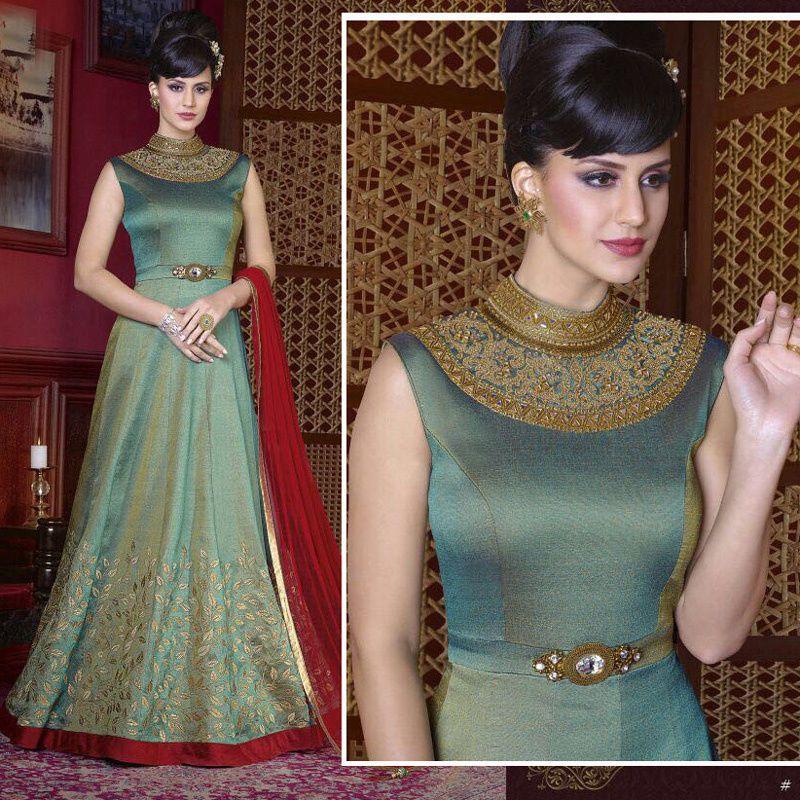 e3b5c31060 Anarkali Long Churidar Wedding Bridal Party Wear Women & Girls Shalwar  Kameez #Handmade #SalwarKameez