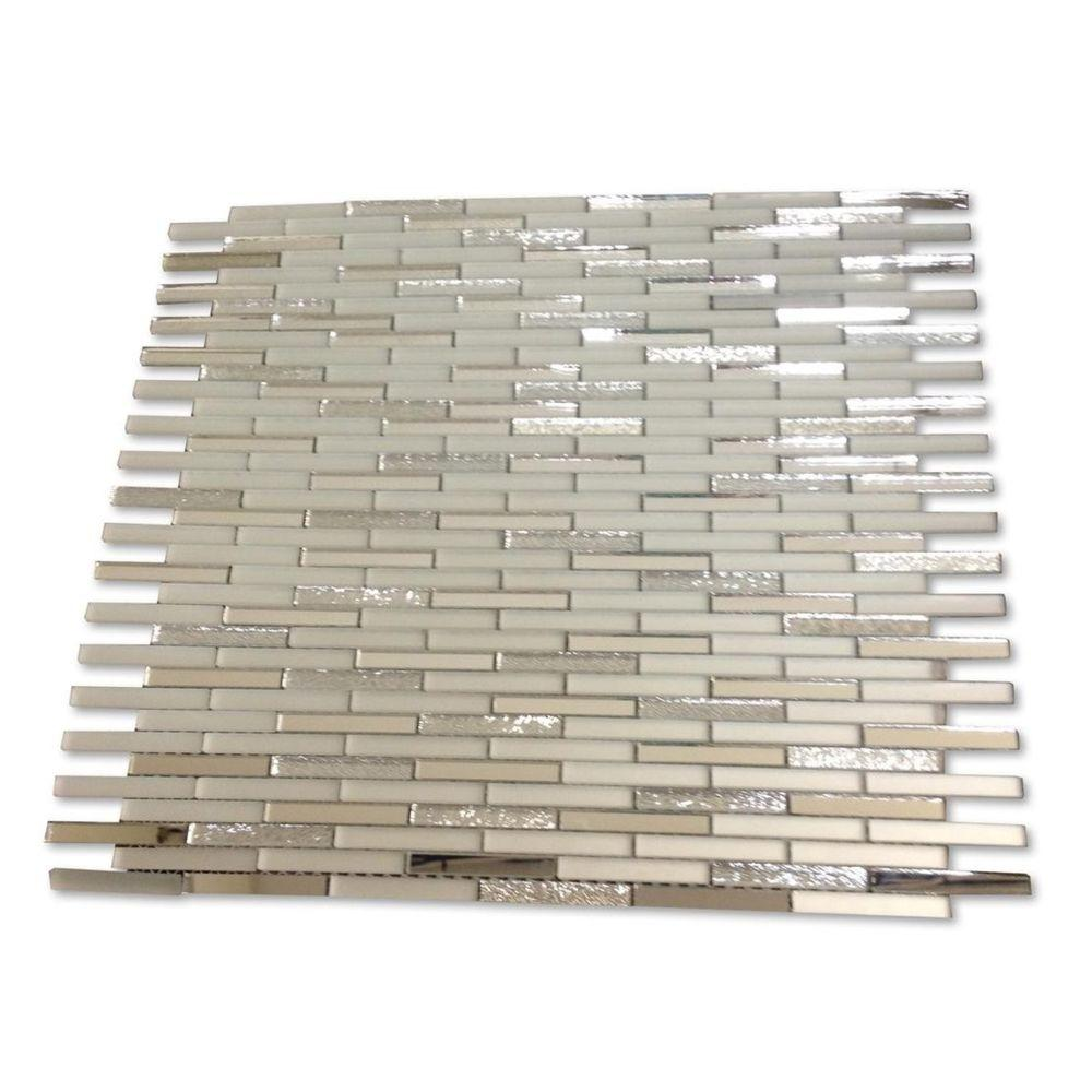 Ivy Hill Tile Specchio Metallic Shine Glass Mirror Tile 3 In X
