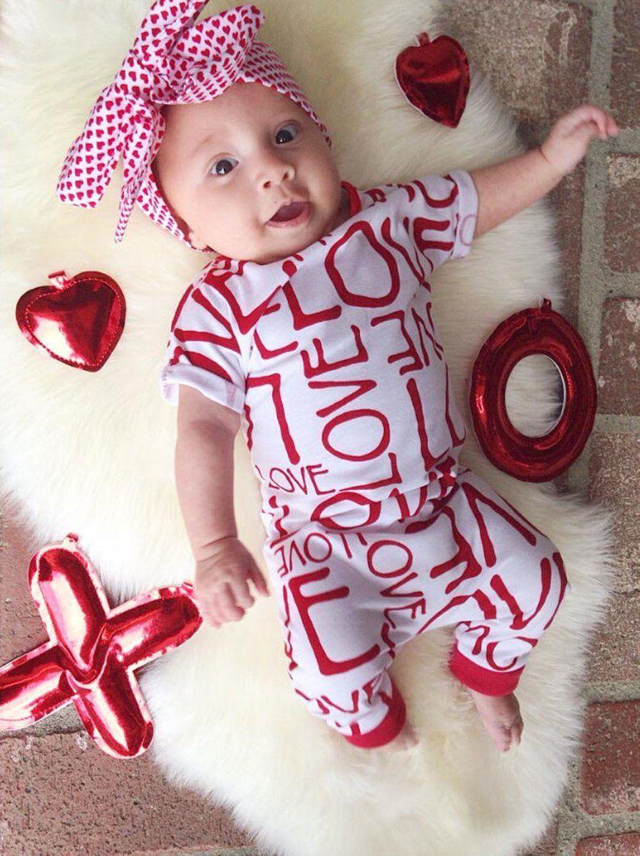 5c1ef13250c5c Cute Baby Boys Girls Clothes Newborn Infant Toddler Kids Bodysuit ...