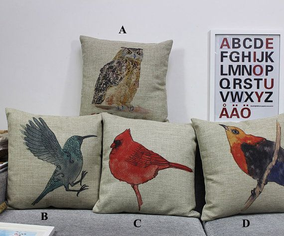Owl Linen pillow cover decorative pillow cover by bestlove2u, $17.50