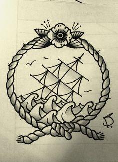 Rope Frames Framed Tattoo Rope Tattoo Wreath Drawing