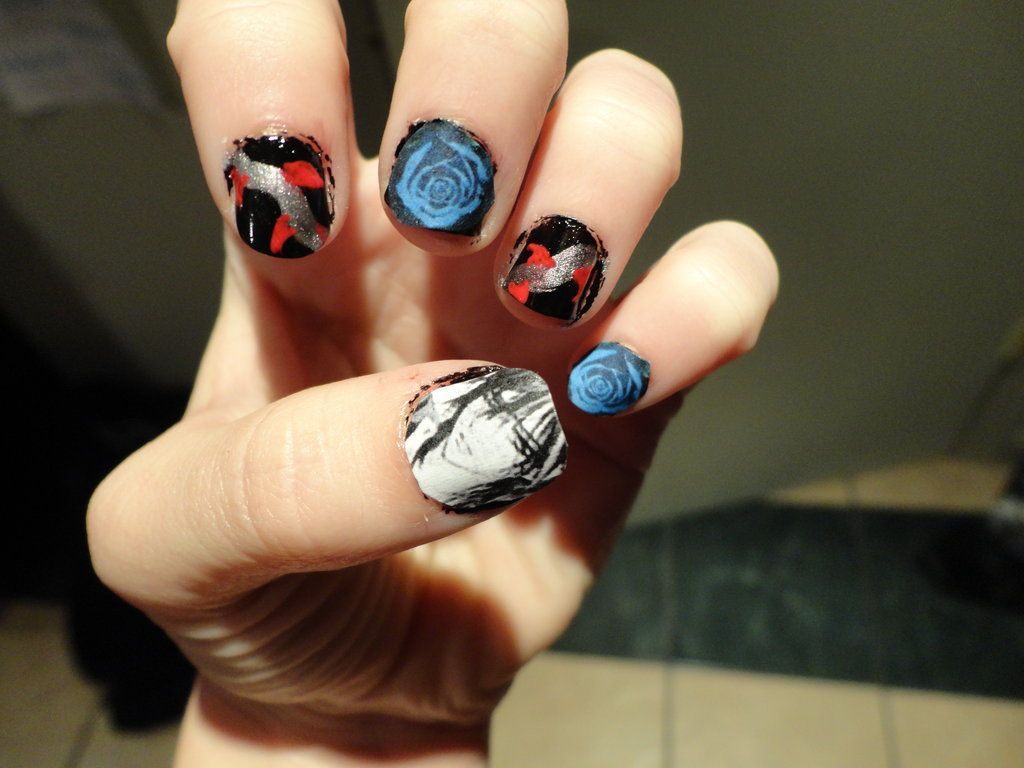 Vampire Knight Kaname nail art 2 by fluffluver1.deviantart.com on ...