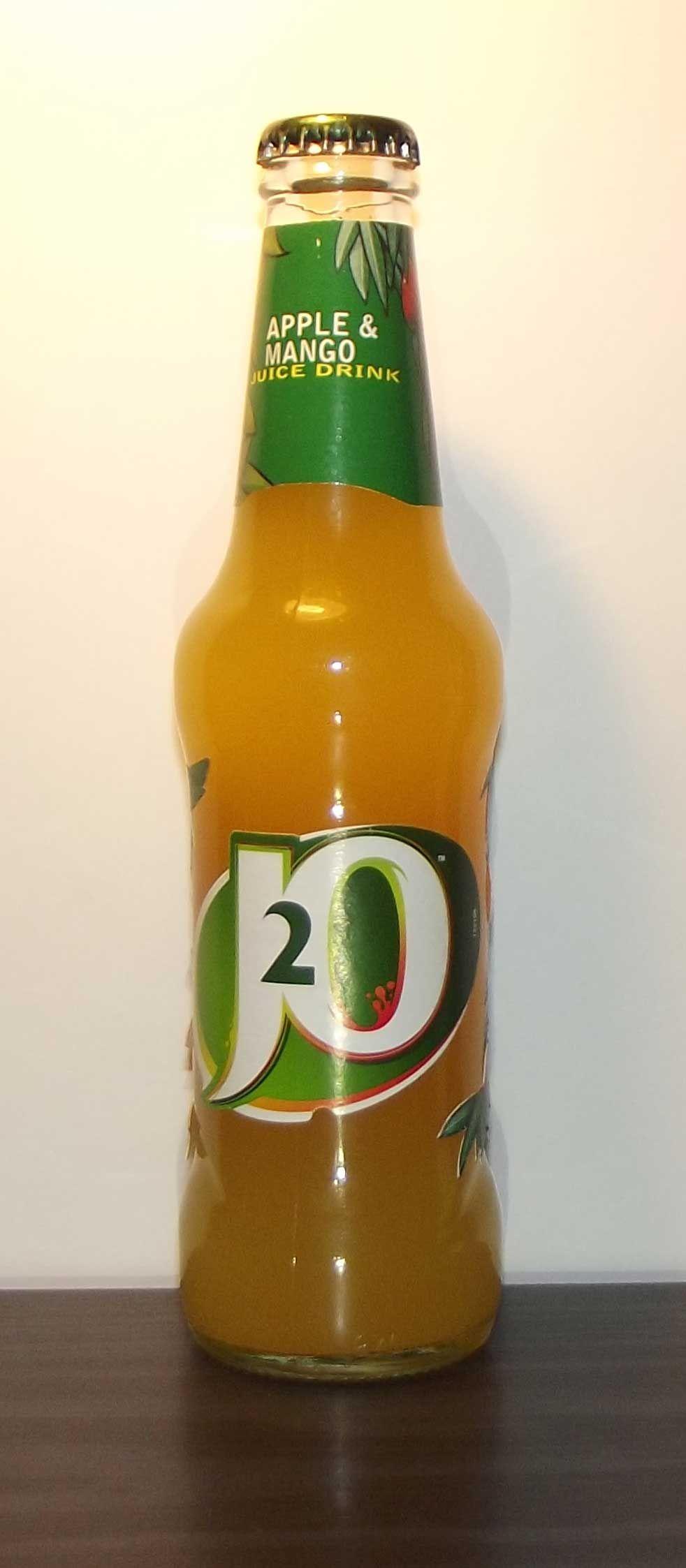 J2O Bottle Apple & Mango Juice drinks, J2o, Bottle