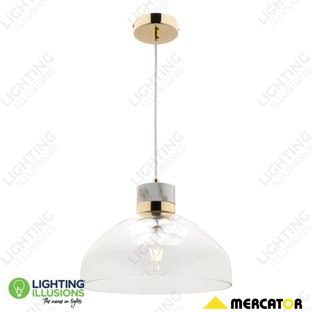 large glass pendant light. $139 Large E27 Sheridan Clear Glass Pendant Light With Marble Canopy