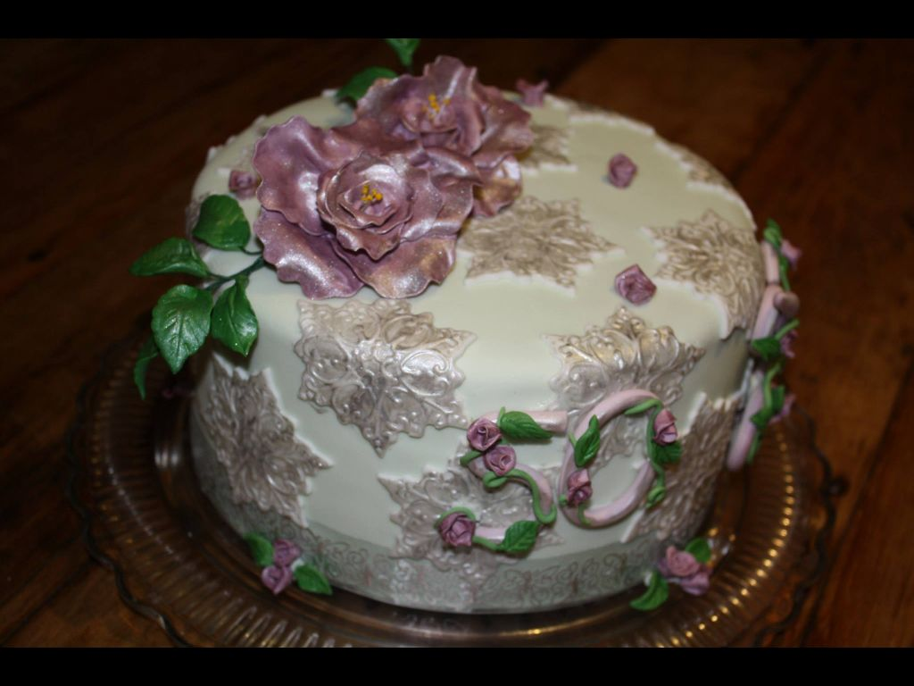 Vintage roses 50th birthday cake | Homemade by me ...