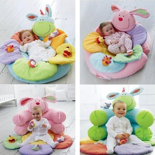 NEW Baby Inflatable Seat Baby Flower Play Mat Baby Game Pad Mat