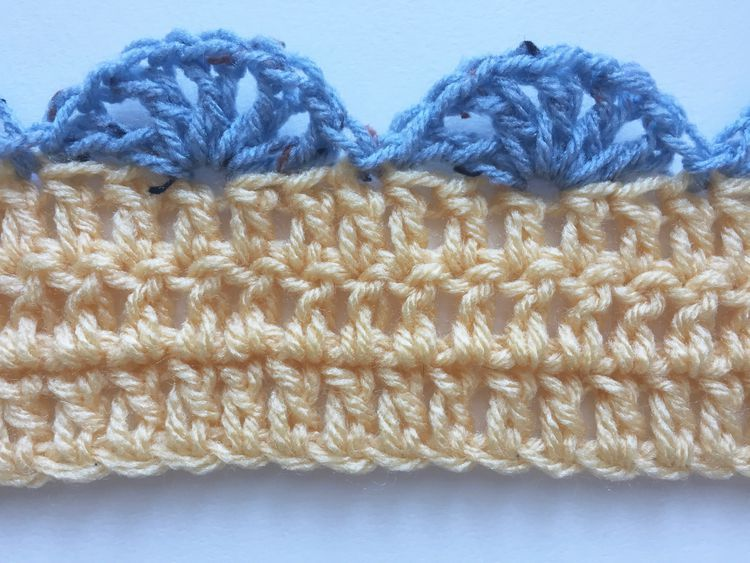 Add a simple edging to your crochet with the shell stitch