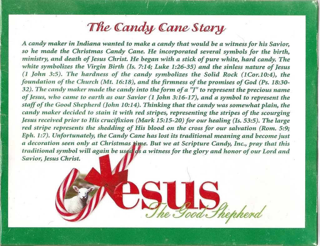 Christmas poems for church programs - The Story Of Christmas Candy Cane Jesus
