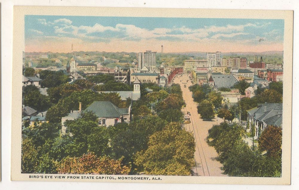 Birdseye View from State Capitol MONTGOMERY AL Vintage
