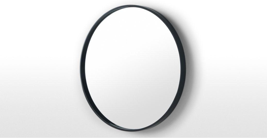 Essentials bex runder spiegel 55 cm schwarz flur mirror large round mirror und round mirrors - Runder spiegel schwarz ...