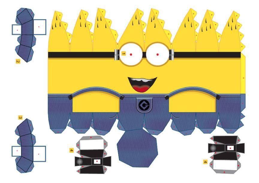 Manualidades para niños recortables de los Minions ideas - imagenes de manualidades