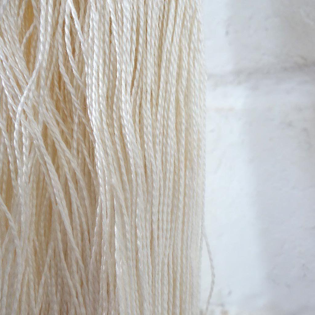 Yarn 100/% Natural Silk Yarn on cone Beige Golden Weaving Hand knitting 100 gr