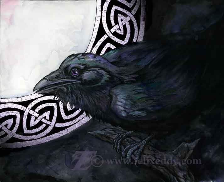 Celtic Raven by ~felixxkatt on deviantART