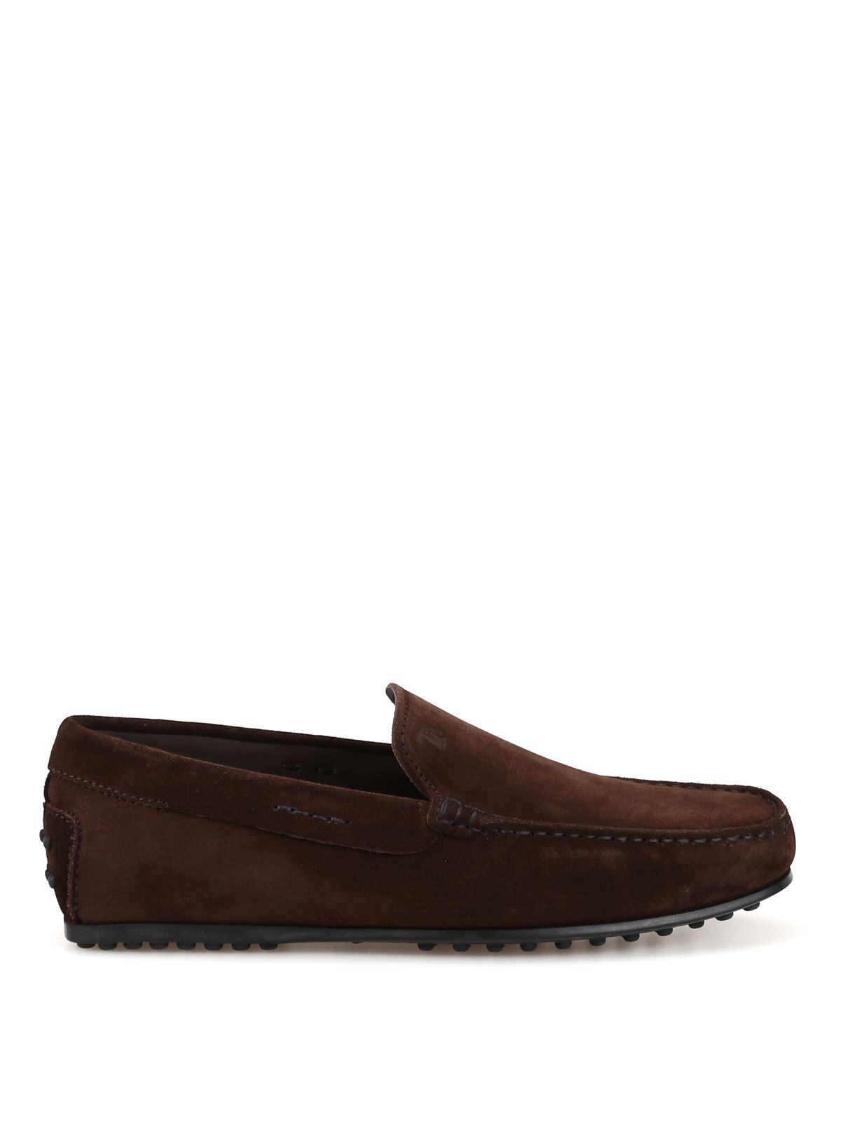 53494268aa6522 TOD'S CITY GOMMINO DARK BROWN SUEDE LOAFERS XXM0LR00040RE0S800. #tods #shoes  Hommes Africains,