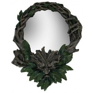 Greenman Wall Mirror - New at GothicPlus.com - your source for gothic clothing jewelry shoes boots and home decor. #gothic #fashion #steampunk