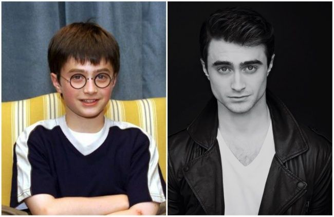 13 Famous Men Who With Age Have Become Only Better Daniel Radcliffe Famous Men Celebrities Then And Now