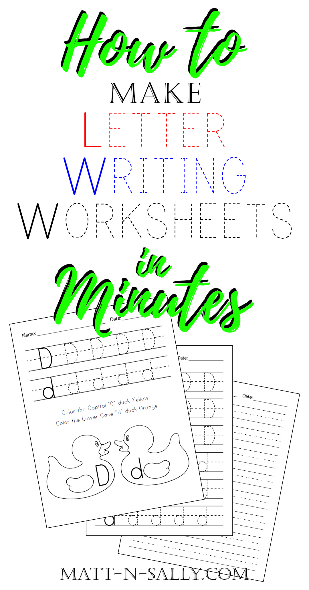 How To Make Letter Writing Worksheets In Minutes