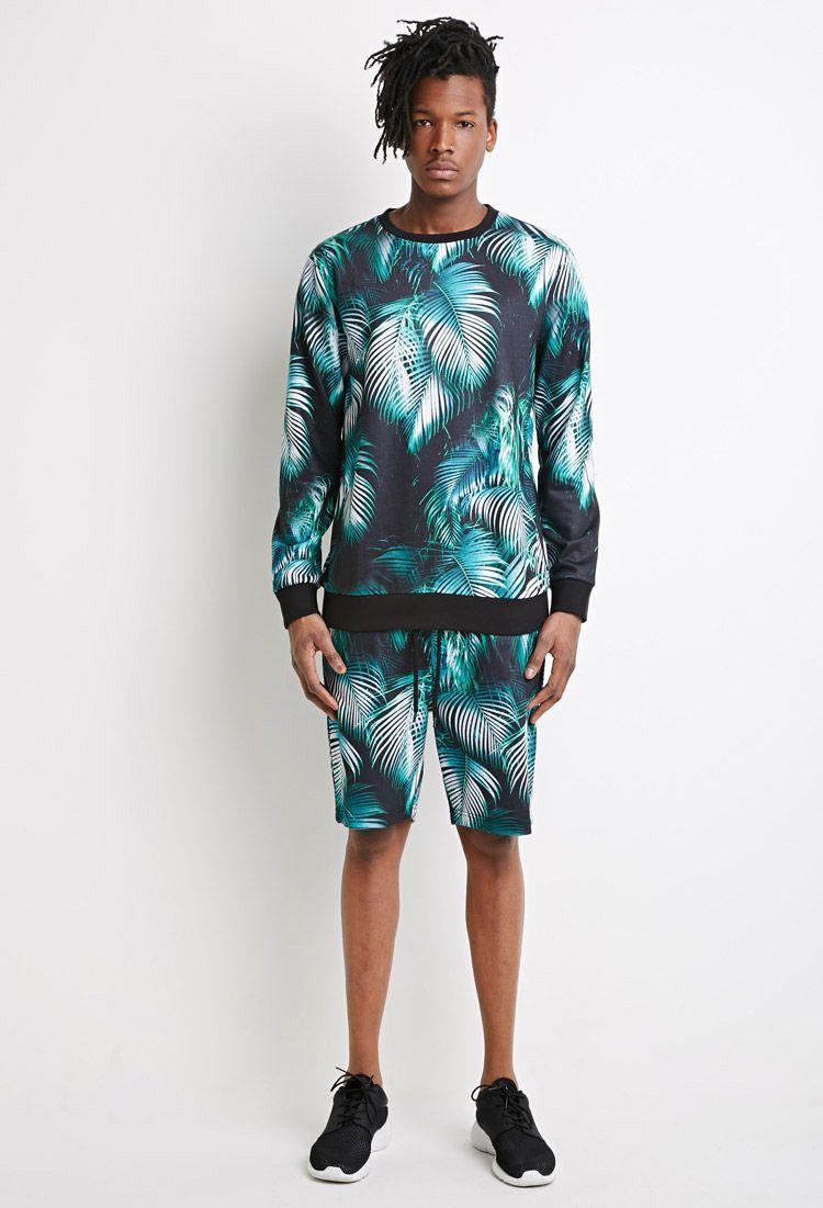 Palm Print Sweatshirt | 21 MEN - 2000052650