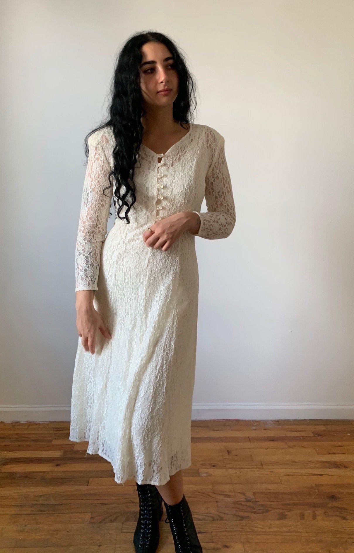 Vintage 80s 90s Dress Vintage All That Jazz Dress 1980s Etsy Lace White Dress Stretchy Lace Dress Lace Dress [ 1886 x 1209 Pixel ]