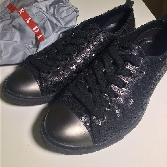 Authentic Prada Sneakers Size 37 / 7 Beautiful authentic black ...