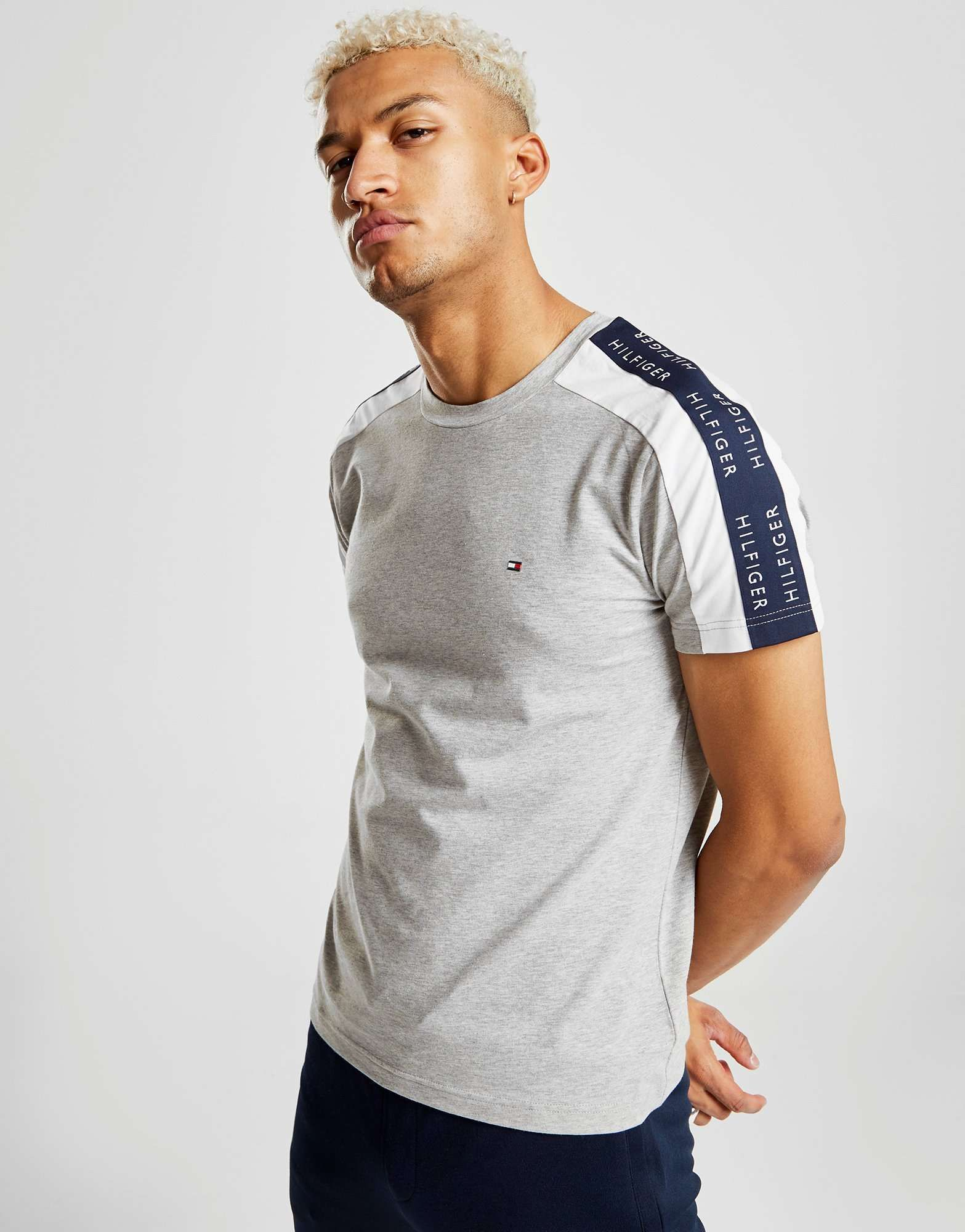 0f5eebcf959 Tommy Hilfiger Contrast Tape Short Sleeve T-Shirt - Shop online for Tommy  Hilfiger Contrast Tape Short Sleeve T-Shirt with JD Sports