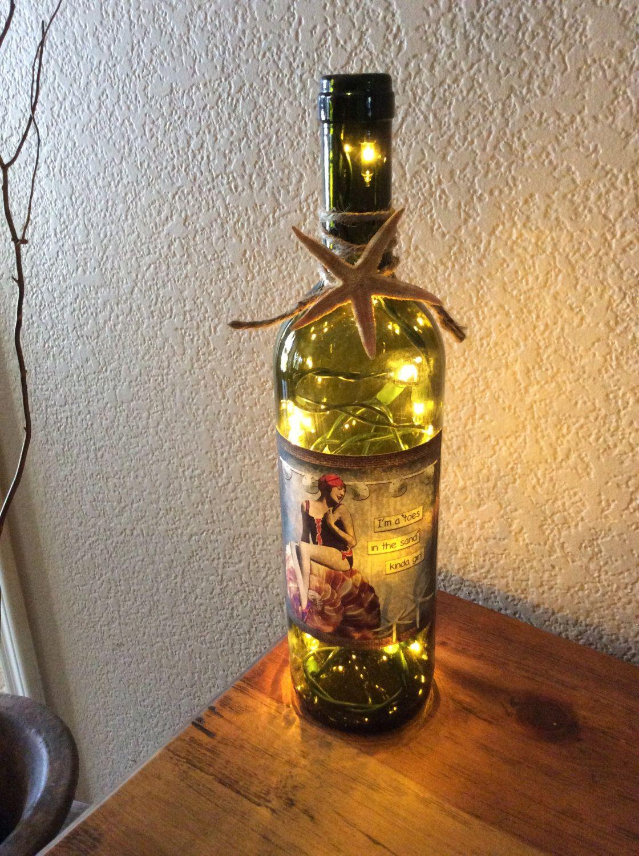 Wine Bottle Light Wine Bottle Lamp Gold