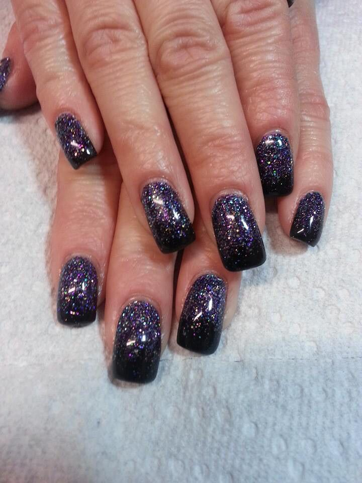 My new nails, they look like the night sky | nail art | Pinterest ...