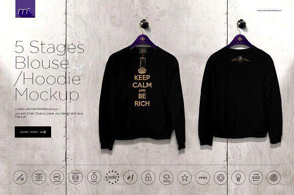 Download Hoodie Blouse On 5 Stages Mock Up Shirt Mockup Mockup Mockup Free Psd