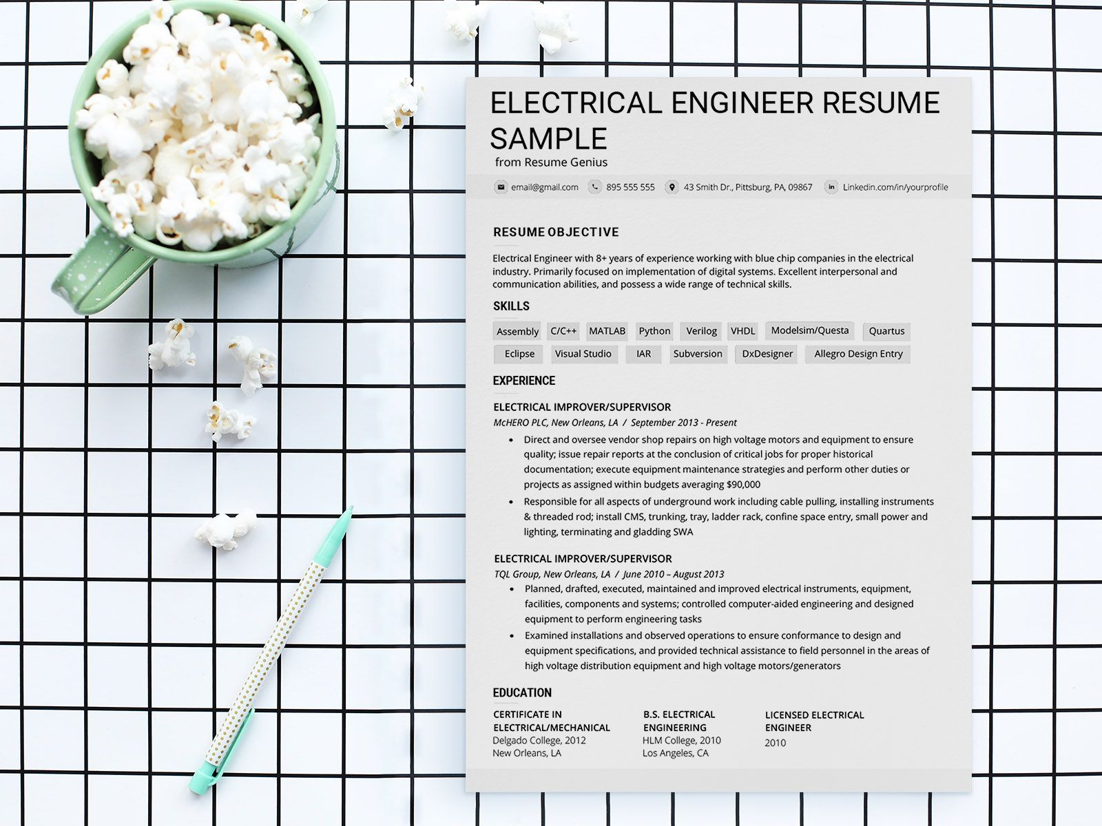 Free electrical engineer resume template resume template