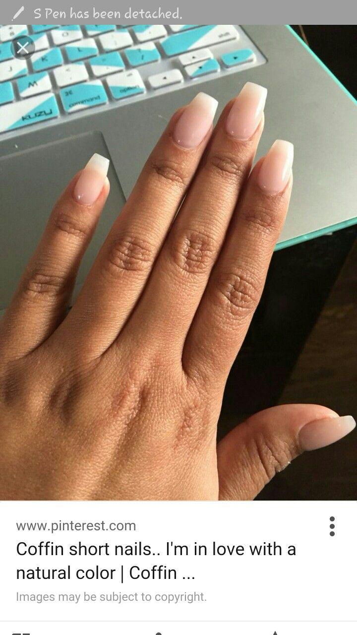 Cute short coffin nails | Hair styles | Pinterest | Nagelschere ...
