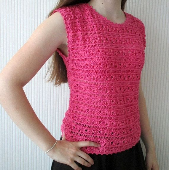 Hand Knit Summer shirt Lace Knit Top